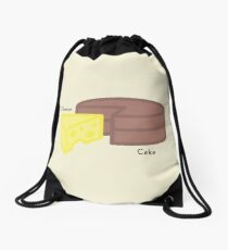 Cheese, Cake... Cheesecake Drawstring Bag