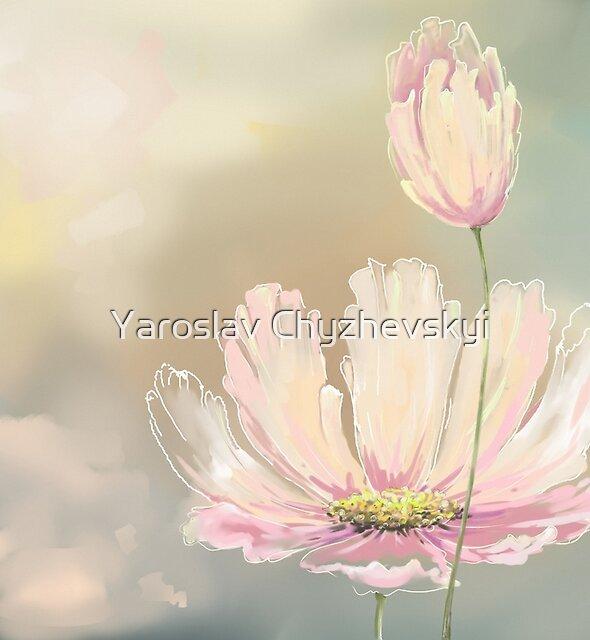Flower paintings by Yaroslav Chyzhevskyi