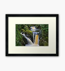 "the wonderful ""pecca falls"" yorkshire dales Framed Print"