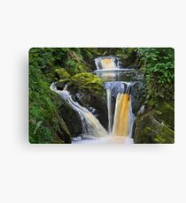 "the wonderful ""pecca falls"" yorkshire dales Canvas Print"