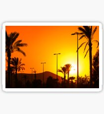 Orange Andalusian sunset Sticker