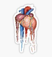 8bit melting heart Sticker