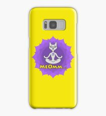 Meditating Cat, mandala and Meomm Sign for yoga Samsung Galaxy Case/Skin