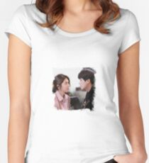 Eun Hwan-Ki & Chae Ro-Woon - My Shy Boss / Introverted Boss Women's Fitted Scoop T-Shirt