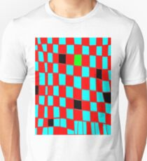 Funky check red n blue T-Shirt