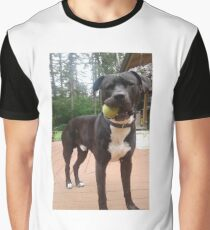 Pit Bull with Ball Graphic T-Shirt