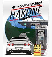 Hakone NISSAN Skyline R32 GTR Poster
