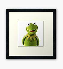 Kermit The Frog Le MEME Framed Print