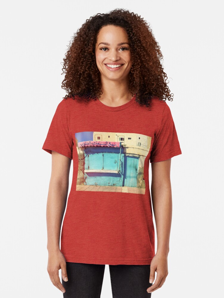 Alternate view of Sunday in Morocco Tri-blend T-Shirt
