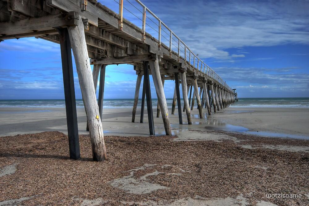 Largs Pier - South Australia by wotzisname