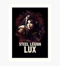 League of Legends STEEL LEGION LUX Art Print