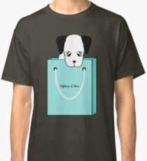 Sweet puppy in a blue bag Classic T-Shirt