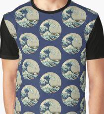Great Wave off Kanagawa circle Graphic T-Shirt