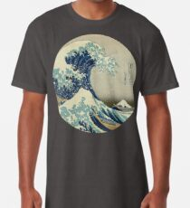 Great Wave off Kanagawa circle Long T-Shirt