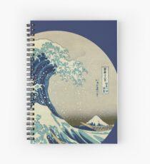 Cuaderno de espiral Gran ola fuera del círculo de Kanagawa