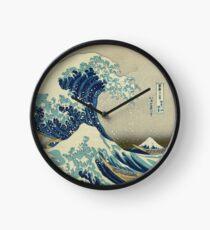 Große Welle vor Kanagawa-Kreis Uhr