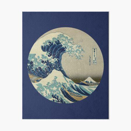 Great Wave off Kanagawa circle Art Board Print