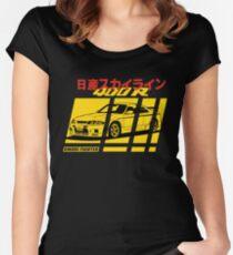Nissan Skyline R33 400R Nismo Tailliertes Rundhals-Shirt