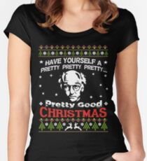 A pretty good christmas - Larry David Women's Fitted Scoop T-Shirt