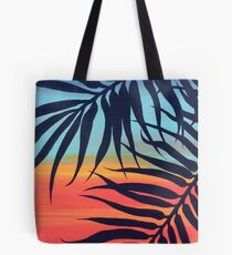 Palm Tree at Sunset Tote Bag