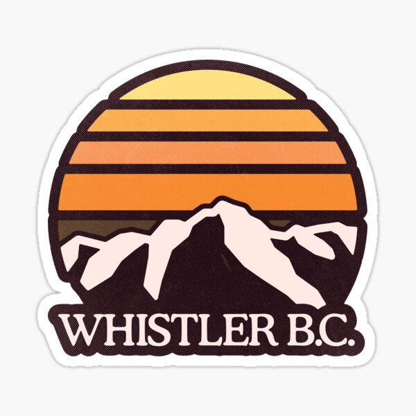 Whistler BC | Mountain Sun Sticker