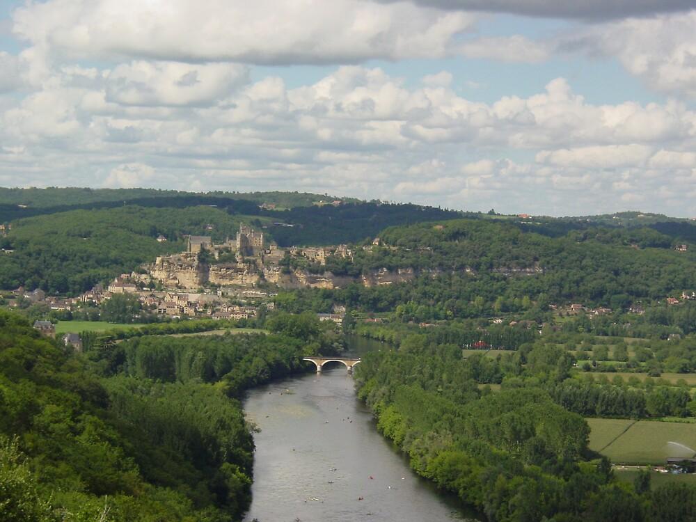 Beynac from Castle Nord by Richard Elston