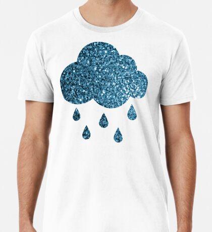 Beautiful Baby blue glitter sparkles Men's Premium T-Shirt