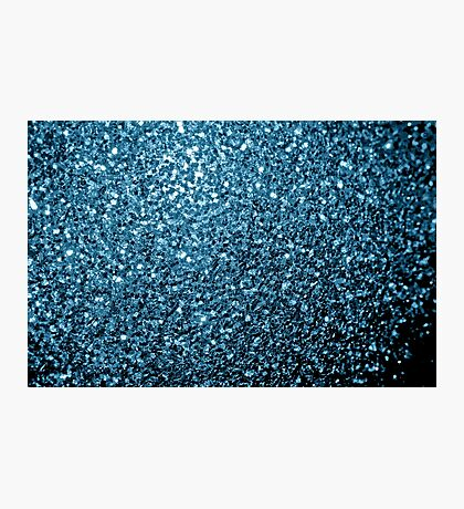 Beautiful Baby blue glitter sparkles Photographic Print