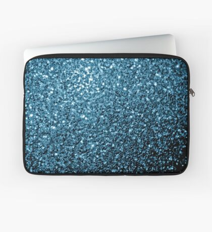 Beautiful Baby blue glitter sparkles Laptop Sleeve