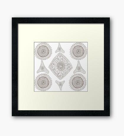 Many Mandalas Framed Print