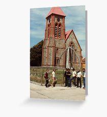 Port Stanley whalebone arch Greeting Card