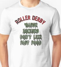 Roller Derby Zombies Don't Like Fast Food Skate T-Shirt