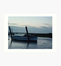 Boat at Blakeney Art Print