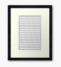 Kiss Kiss Framed Print