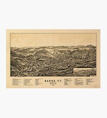 Aerial View of Barre, Vermont (The Granite City) 1891 Photographic Print