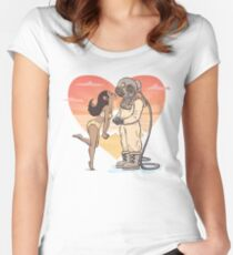 Say it with Antique Breathing Apparatus - Diver and his Love Women's Fitted Scoop T-Shirt