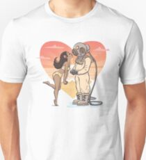 Say it with Antique Breathing Apparatus - Diver and his Love T-Shirt