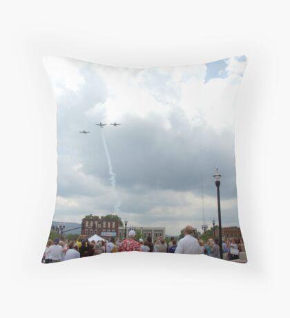 Bicentennial Flyby Throw Pillow