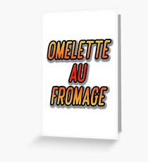 OMELETTE AU / DU FROMAGE - Dexter's Laboratory Greeting Card