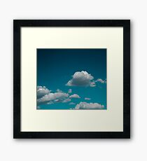 Sky and clouds in summer. Framed Print