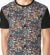 Car Pins Graphic T-Shirt