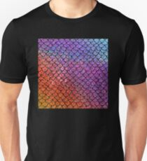 Colorful Glitter Mermaid Scales T-Shirt