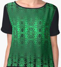 Green and Black Women's Chiffon Top