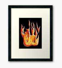 HELL FIRE, FIRE, BLAZE, BURN, IGNITE, FLAME, HEAT, LIGHT, WARMTH Framed Print
