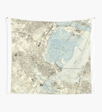 Vintage Map of Elizabeth NJ (1947)  Wall Tapestry