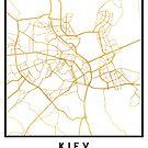 KIEV UKRAINE CITY STREET MAP ART by deificusArt