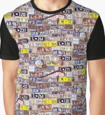 Number Plates Graphic T-Shirt