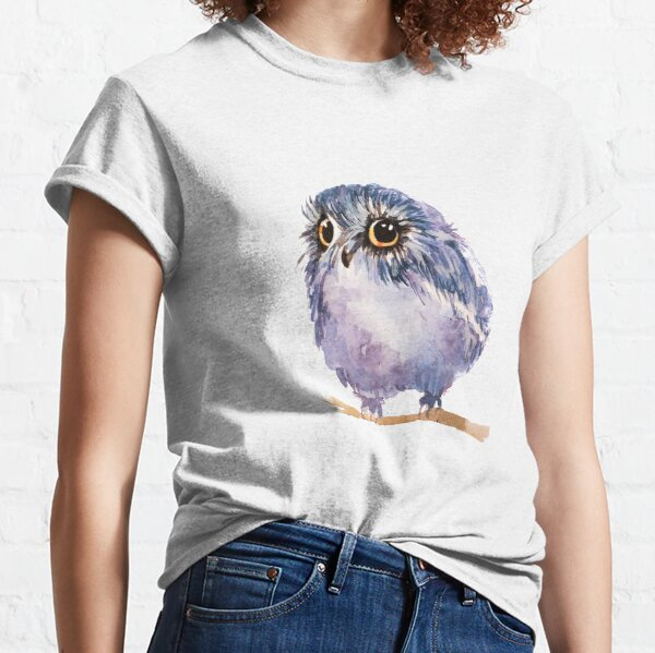 Watercolor Derpy Owl Classic T-Shirt