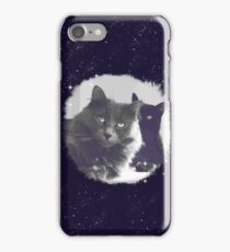 Cats in love. grey and black / photo of cute couple of cats iPhone Case/Skin