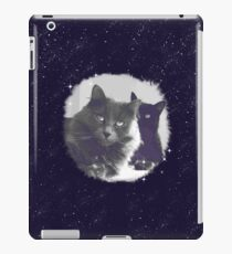Cats in love. grey and black / photo of cute couple of cats iPad Case/Skin